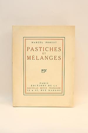 Pastiches et mélanges: PROUST Marcel