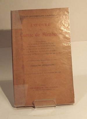 L'Oeuvre du Comte de Mirabeau: APOLLINAIRE (Guillaume).