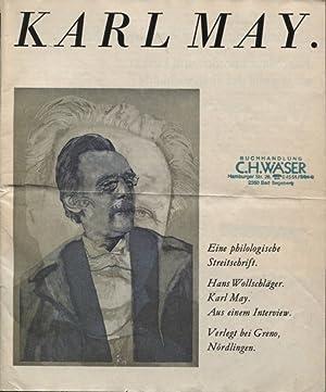 Karl May eine philologische Streitschrift Aus einem: Wollschläger, Hans und