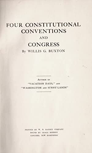 Four Constitutional Conventions and Congress