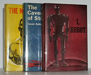 THE ROBOT SERIES (I ROBOT,THE CAVES OF STEEL, THE NAKED SUN) ~ ISAAC ASIMOV, SIGNED WITH LAID IN ...