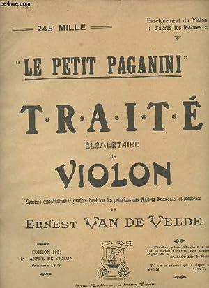 """Traité élémentaire de violon - """"Le petit: Van de Velde"""