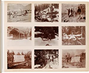 [LARGE VERNACULAR PHOTOGRAPH ALBUM FEATURING SCENES IN ALASKA AND BRITISH COLUMBIA DURING THE KLO...