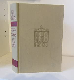 The Plays of David Garrick, Volume 3: Garrick, David ;