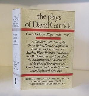 The Plays of David Garrick, Volume 1.: Garrick, David ;