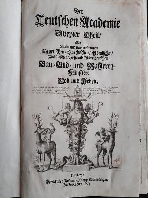 Der Teutschen Academie. Zweyter Theil. Von der: Sandrart, Joachim von: