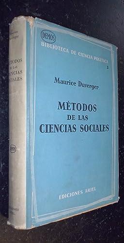 Métodos de las ciencias sociales: DUVERGER, Maurice: