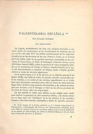 PALEONTOLOGIA ESPAÑOLA (EXTRAIDO ORIGINAL DEL AÑO 1932,: Bermudo Melendez