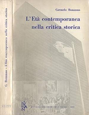 L' Età contemporanea nella critica storica: Carmelo Bonanno