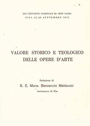 Valore storico e teologico delle opere d'arte: S.E. Mons. Benvenuto