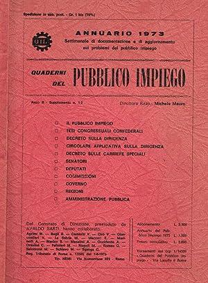 Quaderni del pubblico impiego anno II supplemento: Michele Mauro, direttore