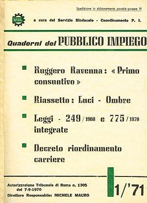 Quaderni del pubblico impiego n.1: Michele Mauro, direttore