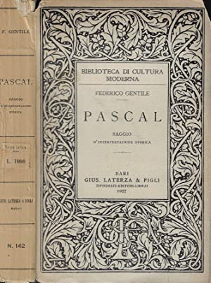 Pascal Saggio d'interpretazione storica: Federico Gentile