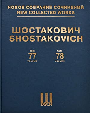"New Collected Works of Dmitri Shostakovich. Vol. 77-78. ""Poem of the Motherland"". Op. 74. For sol..."
