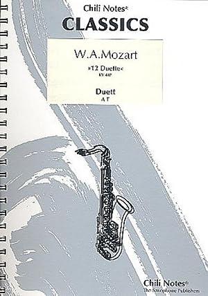 12 Duette KV487 fürAlt- und Tenorsaxophon : Wolfgang Amadeus Mozart
