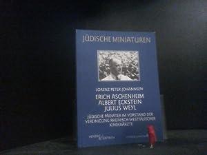 Erich Aschenheim, Albert Eckstein, Julius Weyl: Jüdische: Johannsen, Lorenz Peter: