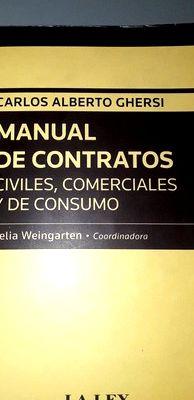 manual de contratos civiles comerciales y de: Carlos Alberto Ghersi