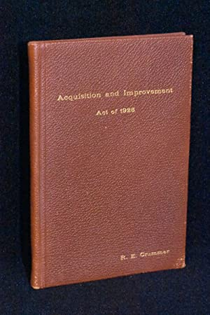 Acquisition and Improvement Act of 1925 (Mattoon Act); Statues 1925, Chapter 419
