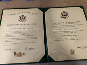 Certificate of Retirement & Certificate of Appreciation