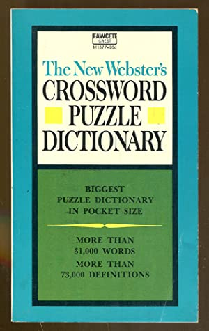 The New Webster's Crossword Puzzle Dictionary: Melnicover, Betty F.