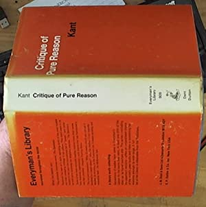 Critique of Pure Reason [Everyman's library]: Kant, Immanuel