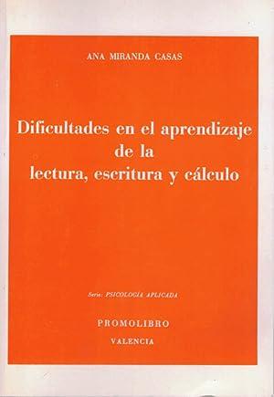 DIFICULTADES EN EL APRENDIZAJE DE LA LECTURA,: MIRANDA CASAS, Ana