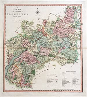 GLOUCESTERSHIRE, Charles Smith Original large format Antique Map 1808