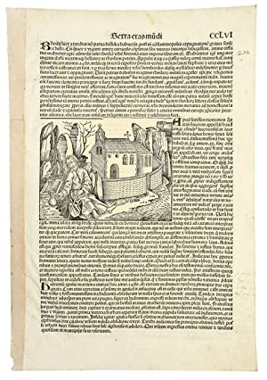 Leaf CCLVI from folio. In German. Double-sided,: INCUNABLE LEAF. NUREMBERG