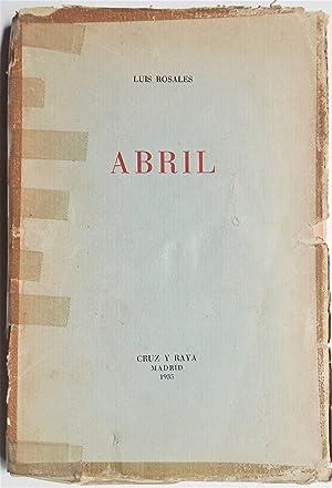 Imagen del vendedor de Abril a la venta por Libros del Ayer ABA/ILAB