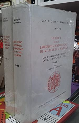 INDICE DE LOS EXPEDIENTES MATRIMONIALES DE MILITARES: OCERIN, Enrique de