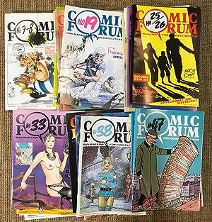 Seller image for Comic Forum. Das Magazin für Comicliteratur (vorm. das österreichische Fachmagazin für Comicliteratur). Konvolut von 33 Heften: Nr. 7/8, 9, 11, 12, 13, 14, 15, 16, 17, 18, 19, 20, 21, 22, 23, 24, 25/26, 27, 28, 29, 30, 31, 32, 33, 34, 35, 36, 38, 39, 40, 41, 42, 47. for sale by Antiquariat Cassel & Lampe Gbr