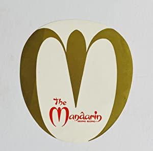 Original Vintage Luggage Label - The Mandarin, Hong Kong