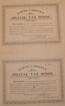 Shares in North Carolina Special Tax Bonds,: North Carolina Special