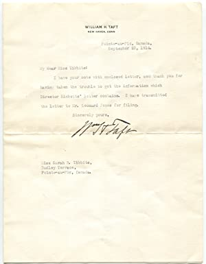 1914 William Howard Taft Typed Letter Signed [with Envelope]