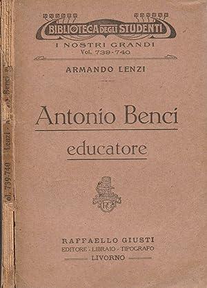 Antonio Benci Educatore: Armando Lenzi