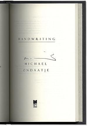 Handwriting.: ONDAATJE, Michael.