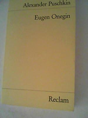 Eugen Onegin: Ein Roman in Versen: Puschkin, Alexander: