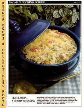 McCall's Cooking School Recipe Card: Soups 11 - Thick Lentil Soup (Replacement McCall's Recipage ...