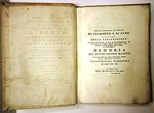 Bild des Verkäufers für delle specie diverse di frumento e pane zum Verkauf von Librivari