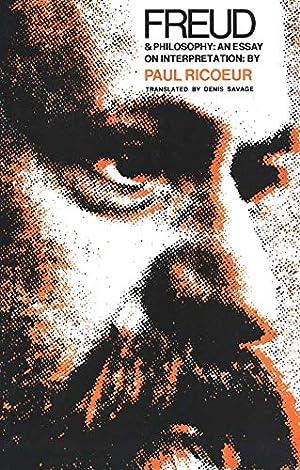 Freud and Philosophy: An Essay on Interpretation: Paul Ricoeur