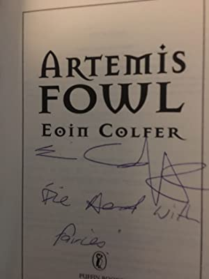 Artemis Fowl (UK Signed and inscribed Uncorrected Book Proof - ARC) Lovely copy