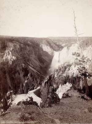 Lower Falls from Point Lookout, Yellowstone Park