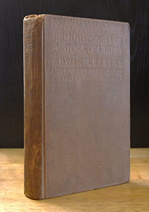 Seller image for Reminiscences of a Stock Operator [First Printing] for sale by The BiblioFile
