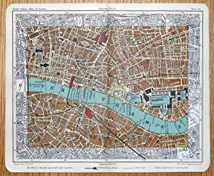 LONDON, CITY, WHITECHAPEL, St.Katherine's, Wapping Street Plan Antique map c1918