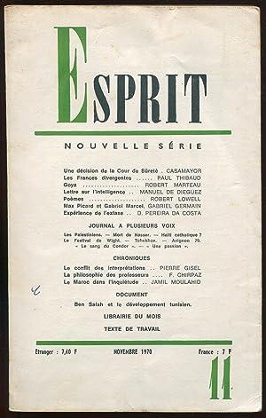 Esprit nouvelle série n°397, novembre 1970: Casamayor, Paul Thibaud,