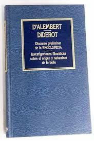 DISCURSO PRELIMINAR A LA ENCICLOPEDIA: ALEMBERT, JEAN LE