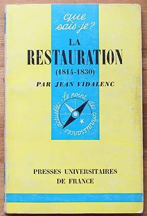 La restauration (1814-1830): Jean Vidalenc