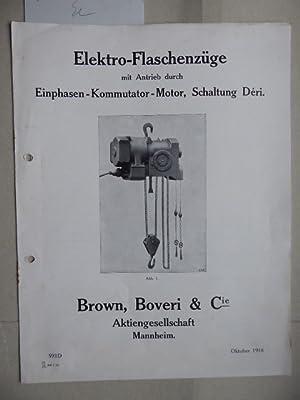 Bild des Verkäufers für Elektro-Flaschenzüge mit Antrieb durch Einphasen-Kommutator-Motor, Schaltung Déri. zum Verkauf von Antiquariat Heinzelmännchen