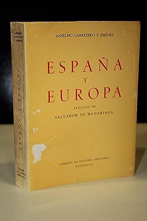 España y Europa.- Carretero y Jiménez, Anselmo.: Carretero y Jiménez,