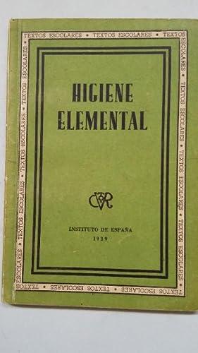 Higiene Elemental. Instituto de España 1939. TDK451